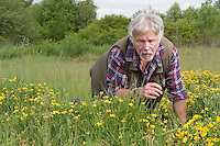 PICTURE BY ALEX BROADWAY/SWPIX.COM...Buglife - Get Britain Buzzing Launch - Canvey Wick Site of Special Scientific Interest...Bill Oddie.