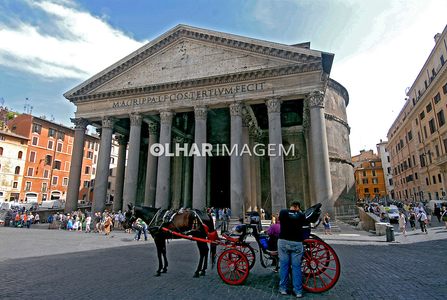 Templo Pantheon em Roma. Italia. 2006. Foto de Luciana Whitaker.