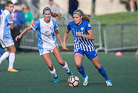 Allston, MA - Saturday August 19, 2017: Dani Weatherholt, Rosie White during a regular season National Women's Soccer League (NWSL) match between the Boston Breakers and the Orlando Pride at Jordan Field.