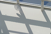 Shadows from a glass roof, University of Surrey.
