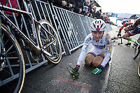 Eva Lechner (ITA/Colnago-SudTirol) had a hard time defending her leaders' jersey today. Finishing only 8th the jersey is now Sanne Cant's (BEL)<br /> <br /> UCI Cyclocross World Cup Heusden-Zolder 2015