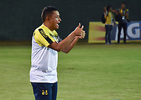 MONTERIA - COLOMBIA, 17-03-2019: Cesar Torres técnico de Alianza P gesticula durante el partido por la fecha 10 de la Liga Águila I 2019 entre Jaguares de Córdoba F.C. y Alianza Petrolera jugado en el estadio Jaraguay de la ciudad de Montería. / Cesar Torres coach of Alianza P gestures during match for the date 10 as part Aguila League I 2019 between Jaguares de Cordoba F.C. and Alianza Petrolera played at Jaraguay stadium in Monteria city. Photo: VizzorImage / Andres Felipe Lopez / Cont
