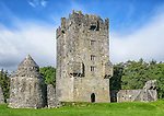 "Aughnanure Castle, located in Oughterard, County Galway, Ireland, is a ""tower house"" built during the 16th century by the O'Flaherty clan."