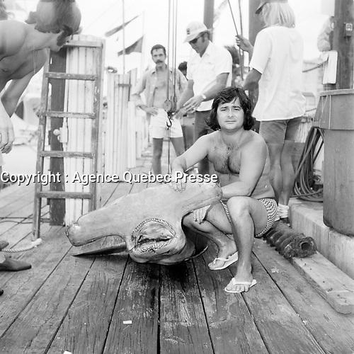 Gilles Girard<br /> des Classels, date inconnue, probablement en Floride vers 1980<br /> <br /> PHOTO : Agence Quebec Presse - Roland Lachance
