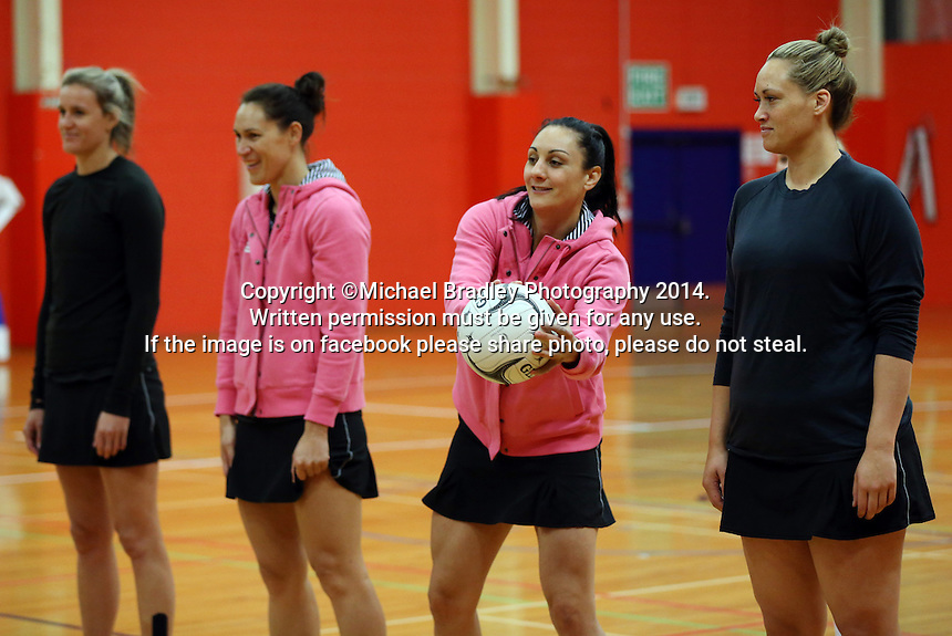 30.10.2014 Silver Ferns Joline Henry in action during training ahead of the second test match in Palmerston North. Mandatory Photo Credit ©Michael Bradley.