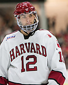 John Marino (Harvard - 12) - The Harvard University Crimson defeated the visiting Cornell University Big Red on Saturday, November 5, 2016, at the Bright-Landry Hockey Center in Boston, Massachusetts.