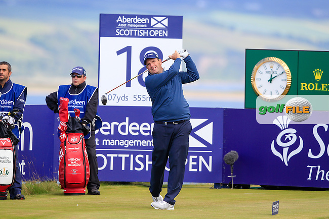Anthony Wall (ENG) during round 2 of the Aberdeen Asset Management Scottish Open 2016, Castle Stuart  Golf links, Inverness, Scotland. 08/07/2016.<br /> Picture Fran Caffrey / Golffile.ie<br /> <br /> All photo usage must carry mandatory copyright credit (&copy; Golffile | Fran Caffrey)