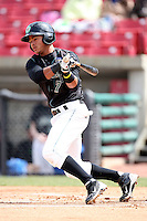 Yowill Espinal (7) of the Kane County Cougars during a game against the Clinton LumberKings at Elfstrom Stadium on April 23, 2011 in Geneva, Illinois. Photo by Chris Proctor/Four Seam Images