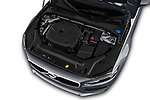 Car stock 2018 Volvo S90 Momentum 4 Door Sedan engine high angle detail view