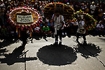 """Silleteros attend the traditional """"Silletero"""" parade during the Flower Festival in Medellin August 7, 2012. Photo by Eduardo Munoz Alvarez / VIEW."""