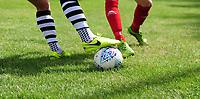 A close up of a EFL official Mitre Delta football<br /> <br /> Photographer Chris Vaughan/CameraSport<br /> <br /> Football - Pre-Season Friendly - Lincoln United v Lincoln City - Saturday 8th July 2017 - Sun Hat Villas Stadium - Lincoln<br /> <br /> World Copyright &copy; 2017 CameraSport. All rights reserved. 43 Linden Ave. Countesthorpe. Leicester. England. LE8 5PG - Tel: +44 (0) 116 277 4147 - admin@camerasport.com - www.camerasport.com