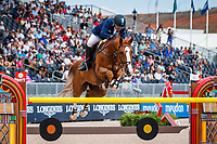 ARG-Luis Magnasco rides Callisto Des Bieffes during the First Competition - FEI World Team and Individual Jumping Championship. 2018 FEI World Equestrian Games Tryon. Tuesday 18 September. Copyright Photo: Libby Law Photography