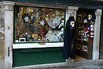 Shop selling masks in Venice, Italy.