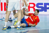 Spain and Croatia during 23rd Men's Handball World Championship preliminary round match, in the pic: Alberto Entrerrios. January 19 ,2013. (ALTERPHOTOS/Caro Marin) /NortePhoto