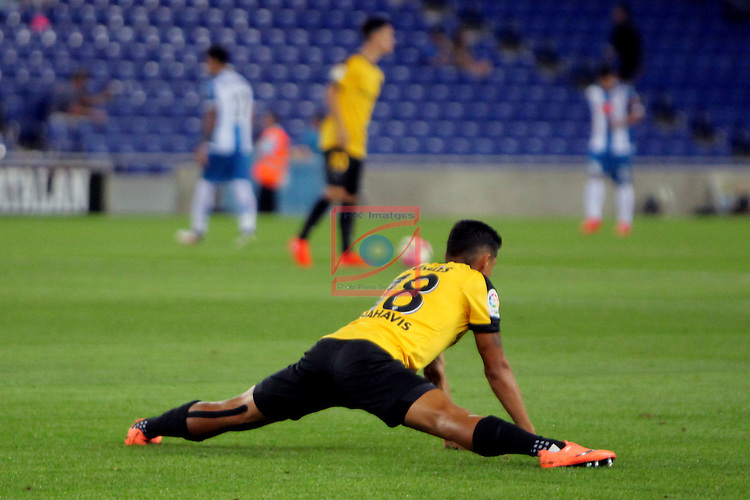 League Santander 2016/2017. Game: 2.<br /> RCD Espanyol vs Malaga CF: 2-2.<br /> Roberto Rosales.