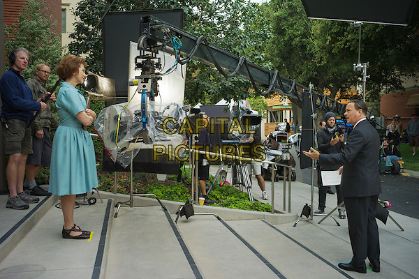 Emma Thompson, Tom Hanks<br /> in the set of Saving Mr. Banks (2013) <br /> *Filmstill - Editorial Use Only*<br /> CAP/NFS<br /> Image supplied by Capital Pictures