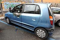 Auto bruciate.Car burned. Atti vandalici. Vandalism....