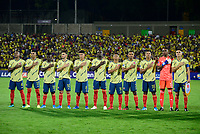 BUCARAMANGA – COLOMBIA, 03-02-2020: Colombia U-23 y Brasil U-23 en partido del cuadrangular final del CONMEBOL Preolímpico Colombia 2020 jugado en el estadio Alfonso Lopez en Bucaramanga, Colombia. / Colombia U-23 and Brazil U-23 in match of for the final quadrangular as part of CONMEBOL Pre-Olympic Tournament Colombia 2020 played at Alfonso Lopez stadium in Bucaramanga, Colombia. Photo: VizzorImage / Julian Medina / Cont