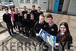 """Gaelcholáiste Chiarraí students will be awarded """"An Gaelbhratach"""" ( a flag for Irish) Enda Kenny will present them their award.The Coiste Gaeilge  in McKee Barracks, Dublin on Thursday 23rd of April. Pictured Front l-r Edith De Faoite, Darragh Mac Aogáin, Caitlín Nic Giolla Gunna, Back l-r Cian Ó Cíanáin, Máire Ní Laocha (teacher), Jennifer Ní Mhuirceartaigh, Ciarda Ní Bhrosnacháin, Danica Ní Chéilleachair, Donagh Mac Uilleagóid, Aoife Ní Mhathúna, Sean ó Céilleachair, Huey Ó Briain"""