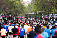 Thousands of runners in 2013 Madrid Marathon