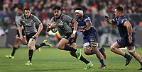 Rieko Ioane in action during the Game of Three Halves match between the NZ All Blacks and Otago at AMI Stadium in Christchurch, New Zealand on Friday, 10 August 2018. Photo: Martin Hunter / lintottphoto.co.nzz