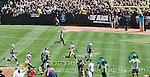 Oakland Raider's RB Darren McFadden running for a TD vs the Pittsburg Steelers.