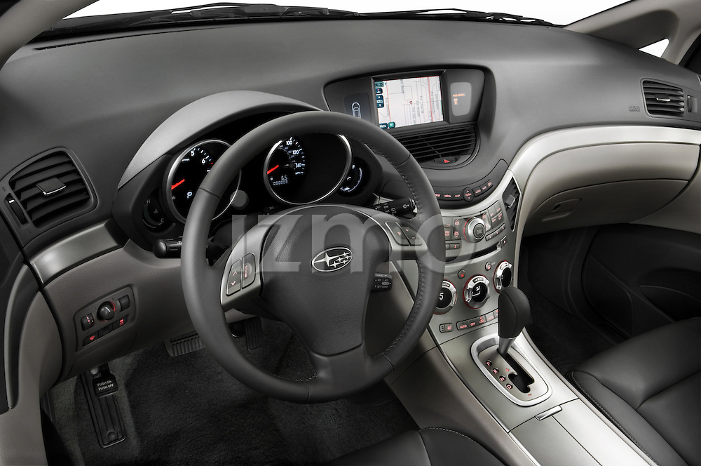 High angle dashboard view of a 2008 Subaru Tribeca SUV