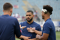 Chester, PA - Monday May 28, 2018: Cameron Carter-Vickers during an international friendly match between the men's national teams of the United States (USA) and Bolivia (BOL) at Talen Energy Stadium.