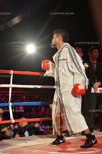 Kohei Kono (JPN),<br /> MAY 6, 2013 - Boxing :<br /> Kohei Kono of Japan enters the ring before the WBA super flyweight title bout at Ota-City General Gymnasium in Tokyo, Japan. (Photo by Hiroaki Yamaguchi/AFLO)