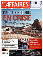 Publication  en couverture de LES AFFAIRES<br /> <br /> Photo : Pierre Roussel