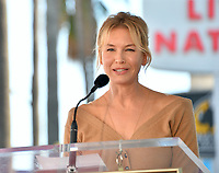 LOS ANGELES, CA. October 24, 2019: Renee Zellweger  at the Hollywood Walk of Fame Star Ceremony honoring Harry Connick Jr.<br /> Pictures: Paul Smith/Featureflash