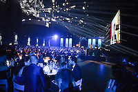 20170208 – LINT ,  BELGIUM : Event hall during the live coverage pictured during the  63nd men edition of the Golden Shoe award ceremony and 1st Women's edition, Wednesday 8 February 2017, in Lint AED studio. The Golden Shoe (Gouden Schoen / Soulier d'Or) is an award for the best soccer player of the Belgian Jupiler Pro League championship during the year 2016. The female edition is a first in Belgium.  PHOTO DIRK VUYLSTEKE | Sportpix.be