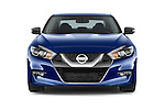 Car photography straight front view of a 2016 Nissan Maxima SR 4 Door Sedan Front View