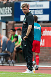 20.07.2019, Heinz-Dettmer-Stadion, Lohne, GER, Interwetten Cup, SV Werder Bremen vs 1. FC Koeln<br /> <br /> im Bild<br /> Florian Kohfeldt (Trainer SV Werder Bremen) schaut auf die Uhr, <br /> <br /> Foto © nordphoto / Ewert