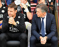 Leicester City Manager Claude Puel right looks apprehensive during AFC Bournemouth vs Leicester City, Premier League Football at the Vitality Stadium on 15th September 2018
