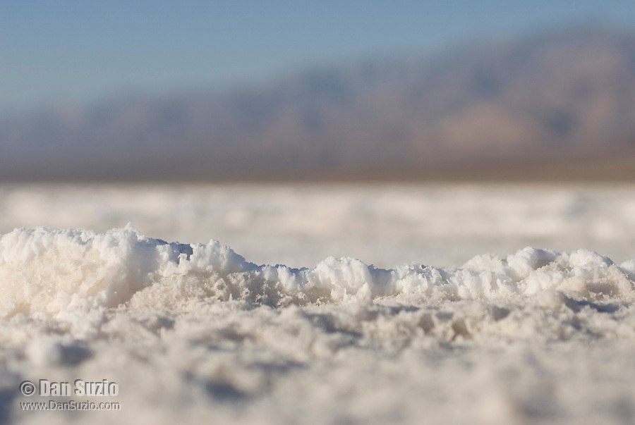 Close-up view of salt pan, Death Valley National Park, California