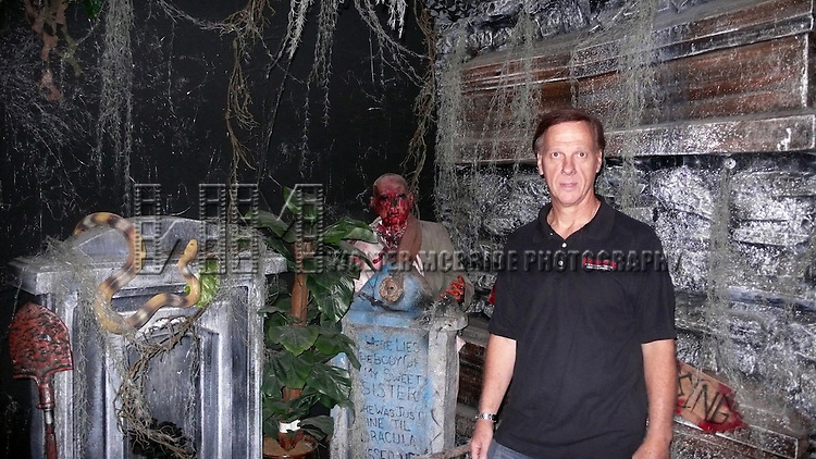Creator Jim Faro with the Set Design at the Media Preview and Party for 'Blood Manor' - New York City's Premier Haunted Attraction at 163 Varick Street in New York. Sept. 26, 2012