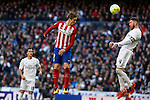 Real Madrid´s Sergio Ramos and Atletico de Madrid´s Fernando Torres during 2015/16 La Liga match between Real Madrid and Atletico de Madrid at Santiago Bernabeu stadium in Madrid, Spain. February 27, 2016. (ALTERPHOTOS/Victor Blanco)