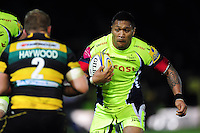 Johnny Leota of Sale Sharks. Aviva Premiership match, between Northampton Saints and Sale Sharks on December 23, 2016 at Franklin's Gardens in Northampton, England. Photo by: Patrick Khachfe / JMP