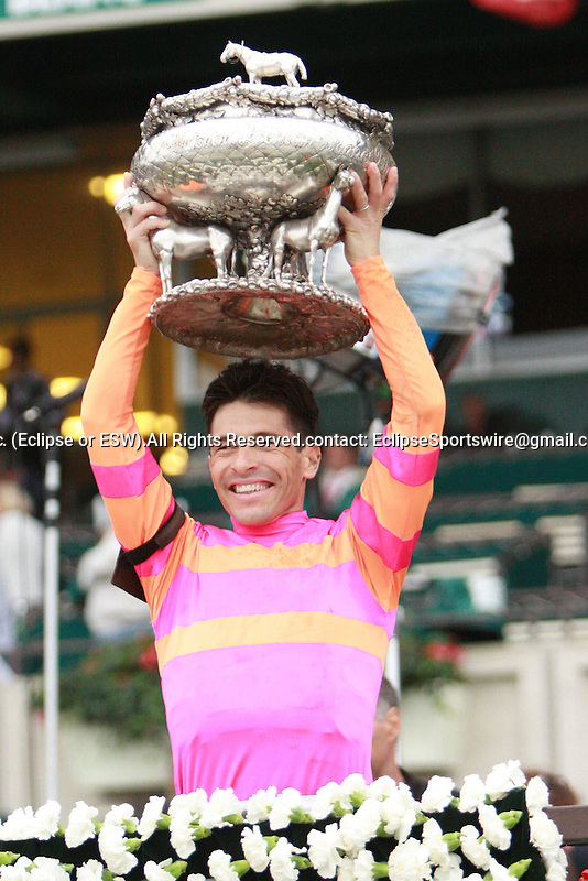 Long shot Ruler On Ice & Jose Valdivia, Jr. win the 143rd running on the Belmont Stakes, for 3-year olds at 1 1/2 mile.