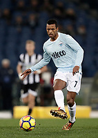 Calcio, Serie A: Lazio - Udinese, Roma, stadio Olimpico, 24 gennaio 2018.<br /> Lazio's Luis Carlos Nani in action during the Italian Serie A football match between Lazio and Udinese at Rome's Olympic stadium, January 24, 2018.<br /> UPDATE IMAGES PRESS/Isabella Bonotto