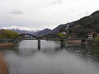 Sorico, Lago Como, Lario, Ponte del Passo, Fiume Mera, Pian di Spagna