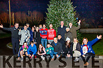 Radio Kerry's Brendan Fuller,back 3rd Rt, was present with many others when the lights were switched on the Christmas tree located outside the Garda barracks in Farranfour last Wednesday evening Dec 4th.