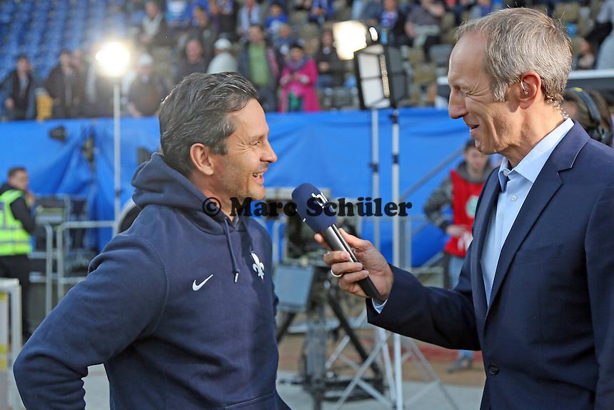 Trainer Dirk Schuster (SV 98) im Interview - SV Darmstadt 98 vs. Armina Bielefeld, Stadion am Böllenfalltor