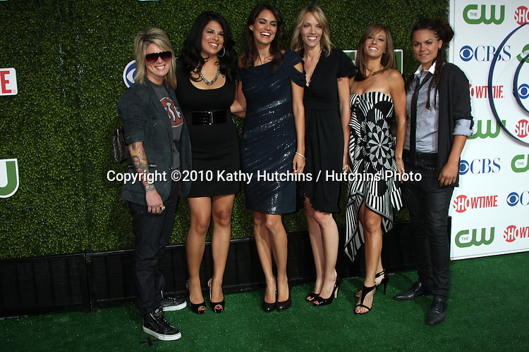 LOS ANGELES - JUL 28:  The Real L Word Cast arrives at the 2010 CBS, The CW, Showtime Summer Press Tour Party  at The Tent Adjacent to Beverly Hilton Hotel on July28, 2010 in Beverly Hills, CA ...