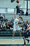 23 February 2018:  Kendall Sosa during an NCAA women's CCIW Semi-Final basketball game between the Elmhurst Bluejays and the Illinois Wesleyan Titans in Shirk Center, Bloomington IL