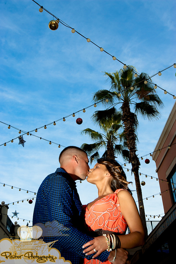 Erika Donaldson and Lee Bugay during their engagement session on Monday, January 23, 2012,  at Channelside Bay Plaza in Tampa, Florida. This was where they first met. (Chad Pilster of http://www.PilsterPhotography.net)