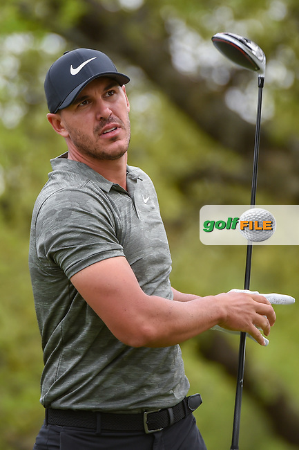 Brooks Koepka (USA) watches his tee shot on 12 during day 2 of the WGC Dell Match Play, at the Austin Country Club, Austin, Texas, USA. 3/28/2019.<br /> Picture: Golffile   Ken Murray<br /> <br /> <br /> All photo usage must carry mandatory copyright credit (© Golffile   Ken Murray)