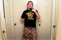 Self portrait with my new Motorhead t-shirt given to me by my friend Mike Watkins in 2013.