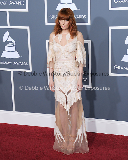 Florence Welch attends The 53rd Annual GRAMMY Awards held at The Staples Center in Los Angeles, California on February 13,2011                                                                               © 2010 DVS / Hollywood Press Agency